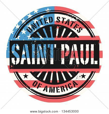 Grunge rubber stamp with the text United States of America, Saint Paul, vector illustration