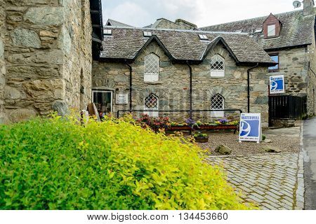 ABERFELDY SCOTLAND - JUNE 06 2016: The Watermill gallery bookshop and cafe in Aberfeldy Perthshire Scotland