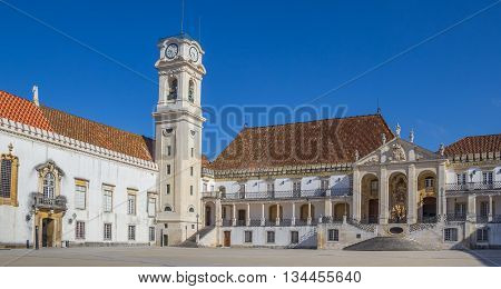University Square And Bell Tower In Coimbra
