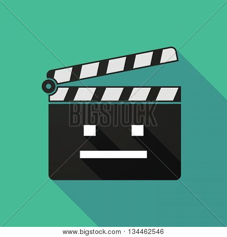 Long Shadow Clapperboard With A Emotionless Text Face