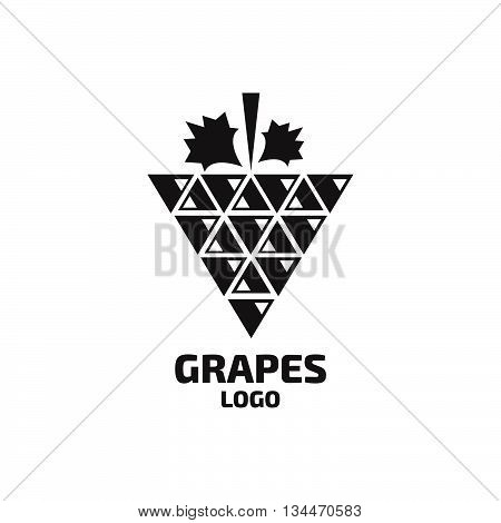 Grapes vector logo. Wine, vine logo. Stock vector. Vector illustration.