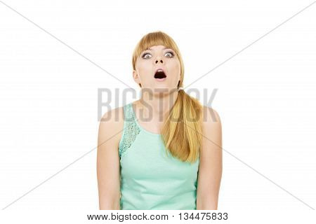 Concerned Scared Shocked Woman