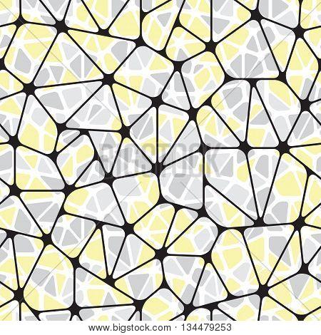 Beautiful abstract seamless pattern. Geometric objects like a pebble. Vector illustration.