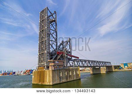 Drawbridges in the Port of Antwerp Belgium