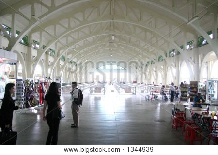 Waiting hall building interior