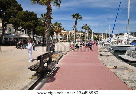 Bandol France - april 20 2016 : boats in the port