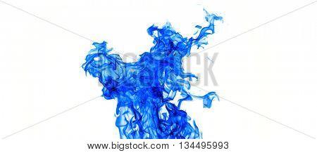 Faerie Fire. Blue smoke.