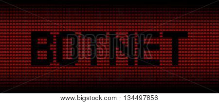 Botnet text on red laptops background illustration