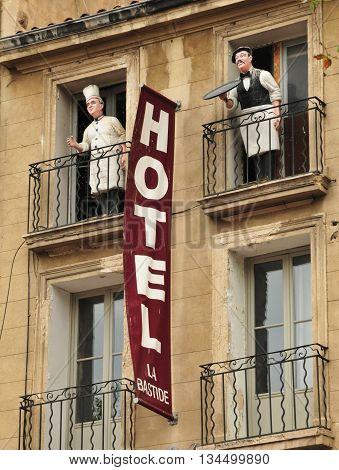 Aix en Provence France - april 21 2016 : an hotel cours Mirabeaul