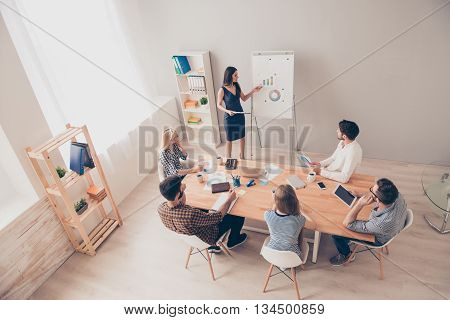 Photo Of Business Concept. People Sitting At Conference Training. They Planning Learning, Coaching