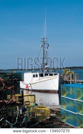 Lobster Boat at the dock on Grand Manan