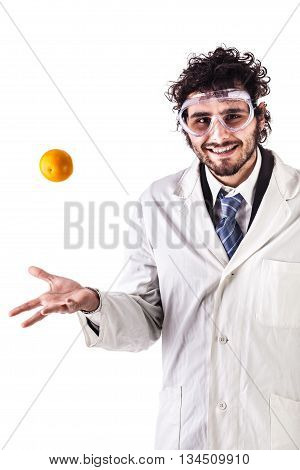 Researcher Juggling An Orange