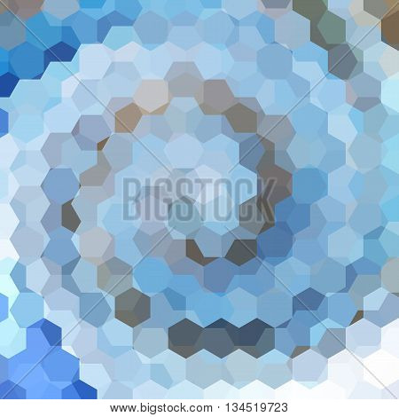 abstract background with blue hexagons, vector illustration
