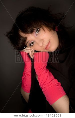 Picture Of A Young Woman Looking To The Camera