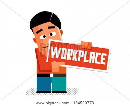 Workplace graphic. Flat vector illustration.