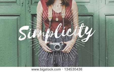 Simplicity Simple Camera Female Graphic Concept poster