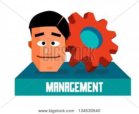 Management graphic. Flat vector illustration.