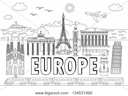 Europe Travel Set