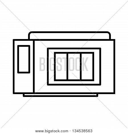 Inkjet printer cartridge icon in outline style isolated on white background