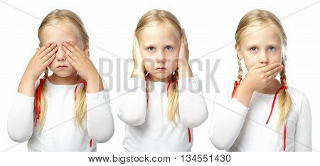 Child - See no evil Hear no evil Speak no evil