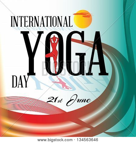 Celebrating International yoga day- Colorful abstract banner