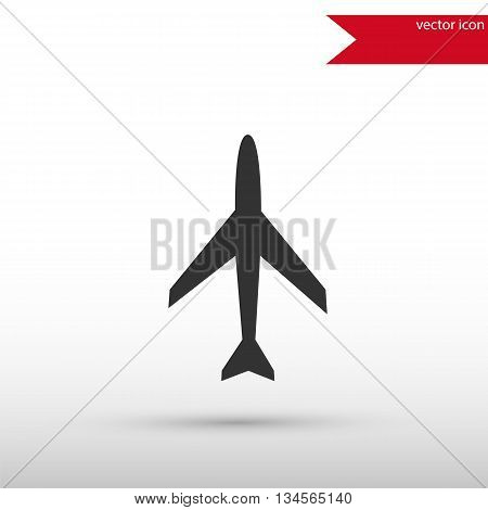 Airplane icon. Airplane symbol. Airplane icon object. Flat design style. Template for design.