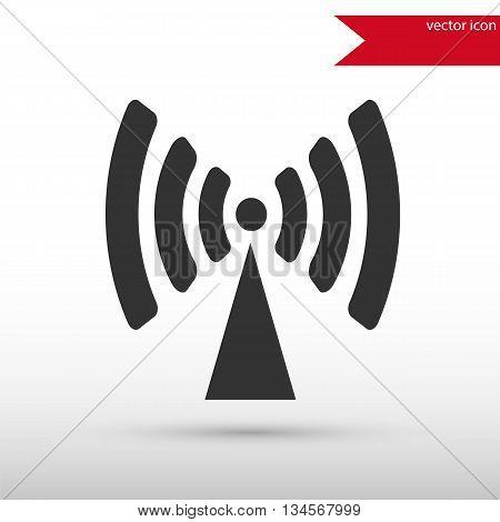 Antenna radio icon vector. Antenna radio icon JPEG. Vector illustration design element. Flat style design icon.