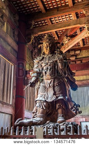 Komokuten, a guardian at Todaiji Temple in Nara - Japan