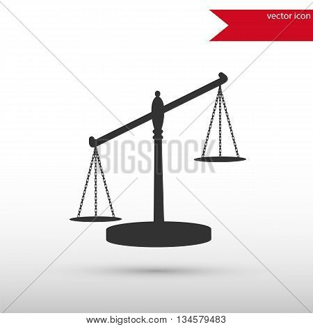 Scales of Justice. Black icon vector and jpg. Flat style object. Art picture drawing. Eps 10. Elements for your design. Web icons.