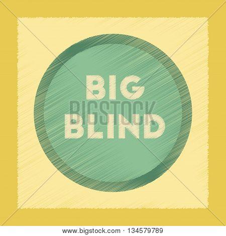 flat shading style icon poker big blind