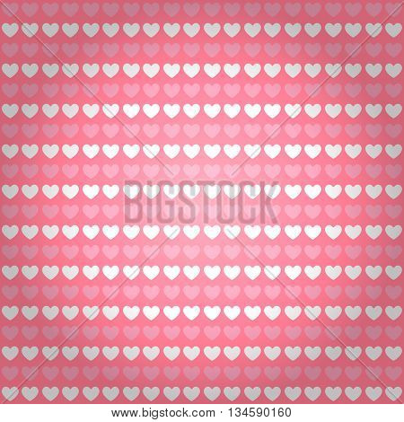 seamless heart background and pattern vector illustration
