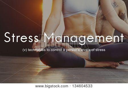 Stress Management Keep Calm Relaxation Calmness Concept poster
