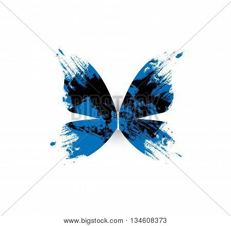 vector illustration - Abstract butterfly on white background