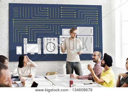 Circuitry Contemporary Electric Technology Tech Concept