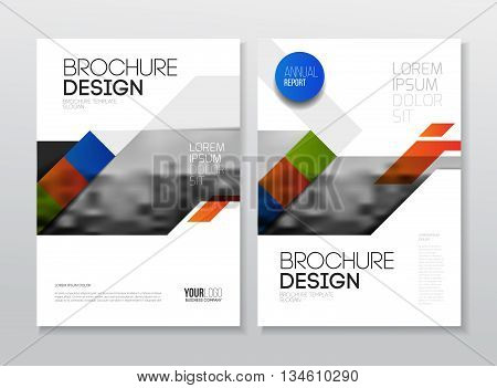 Business Brochure Design. Annual Report Vector Illustration Template. A4 Size Corporate Business Cat