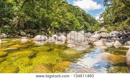 Mossman River Lookout in the Mossman Gorge, Daintree National Park, Queensland, Australia.