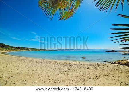 Le Bombarde beach in Alghero in Sardinia