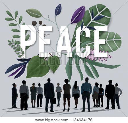 Peace Calm Free Nonviolence Privacy Solitude Zen Concept poster