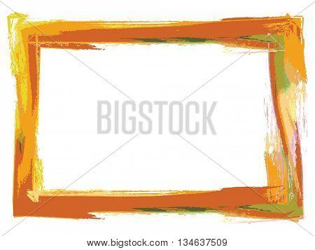 Grunge type photo frame using paint brush colors