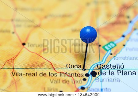 Onda pinned on a map of Spain