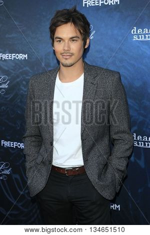 LOS ANGELES - JUN 15:  Tyler Blackburn at the Pretty Little Liars Seaon 7 Premiere and Dead of Summer Premeire at the Hollywood Forever Cemetary on June 15, 2016 in Los Angeles, CA