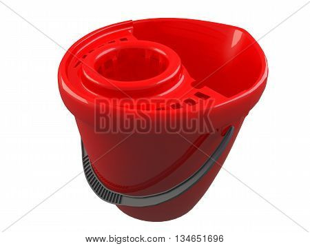 3D Rendering Of A Bucket