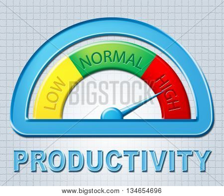 High Productivity Means Gauge Excessive And Productive