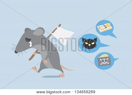 Rat raise a white flag and walk away because the way get rid of rat by home ownership. Rat give up.