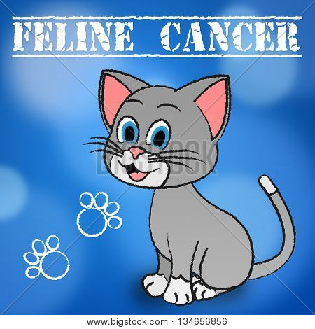Feline Cancer Showing Malignant Growth And Malignancy poster