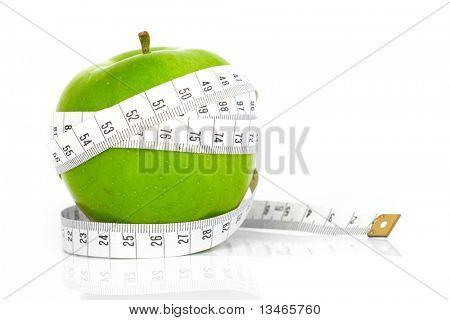 Groene appels gemeten de meter, sport appels