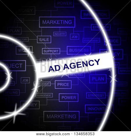 Ad Agency Means Business Advert And Advertise
