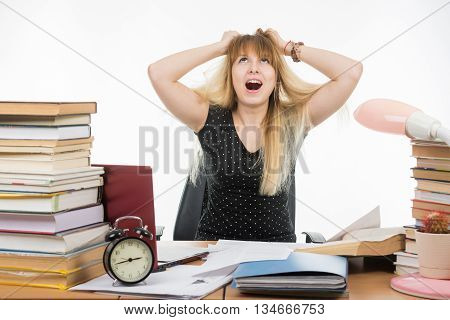 Student Tears His Hair Out Of Nervous Tension
