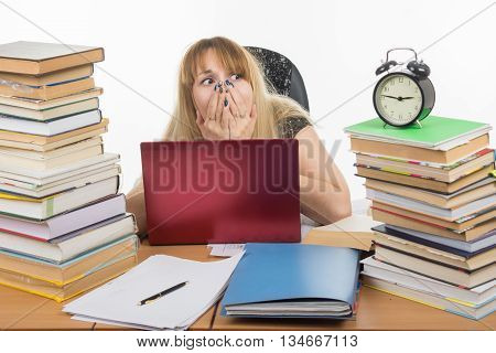 The Student Stayed On Night At The Computer And Was Horrified To Look At The Clock