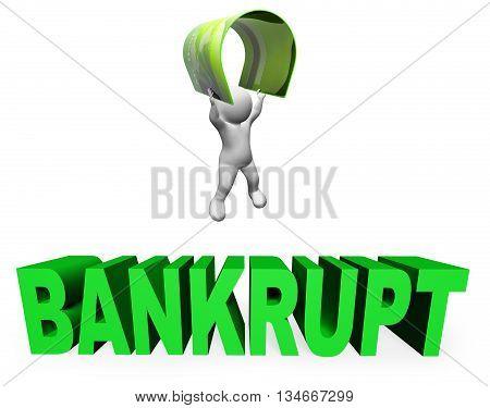 Credit Card Bankrupt Means Financial Problem And Broke 3D Rendering